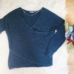 UO Kimchi Blue Wrap Sweater COMFY! S1
